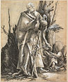 Albrecht Dürer - Bearded Saint in a Forest, c. 1516 - Google Art Project.jpg