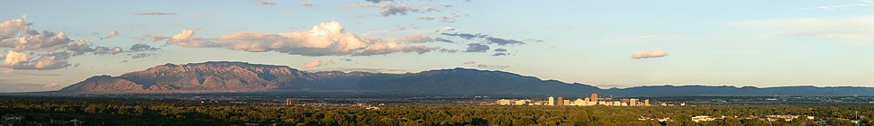 Panoramic view of the city of Albuquerque