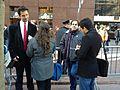Alexis Ohanian & Joel Spolsky talk to press (6723913231).jpg
