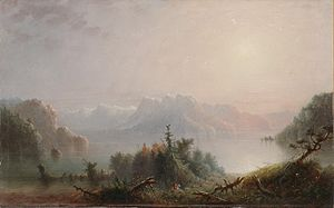 Alfred Jacob Miller - Image: Alfred Jacob Miller The Lake Her Lone Bosom Expands to the Sky