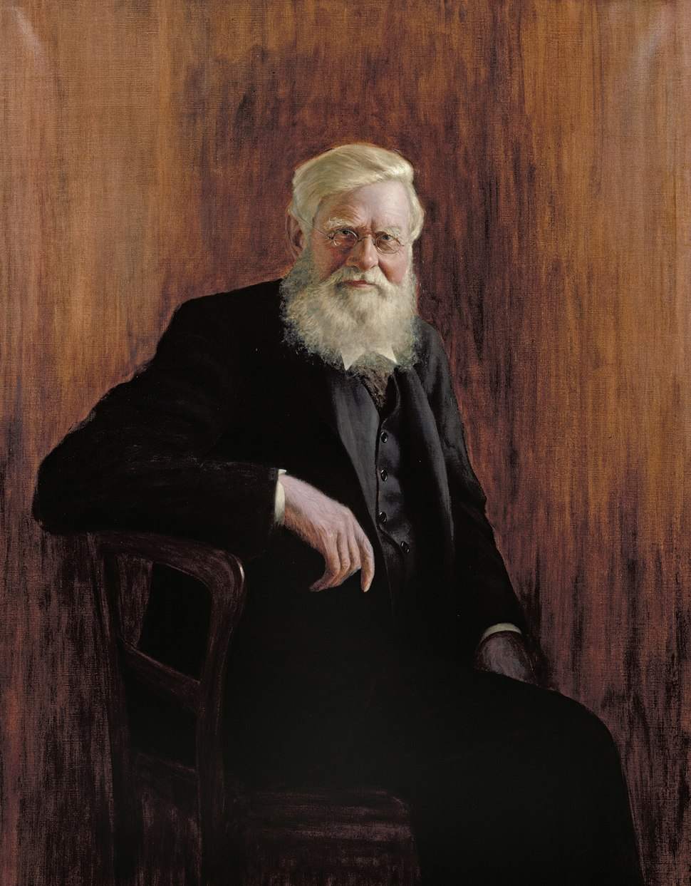 Alfred Russel Wallace, attributed to John William Beaufort (1864-1943)