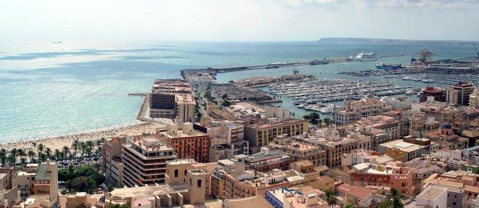 Alicante Spain - the city and the sea
