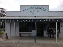 External view of Alison Lester gallery and bookshop, Fish Creek