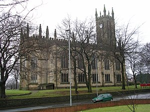 All Saints' Church, Stand - All Saints' Church from the northeast