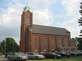 All Saints Catholic Church at New Riegel, northern side.jpg