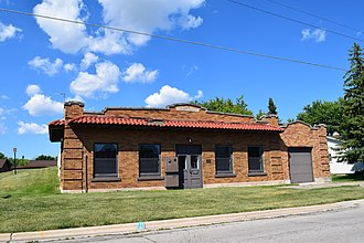 National Register of Historic Places listings in Brown County, Wisconsin - Image: Allouez Pump House, Allouez, WI
