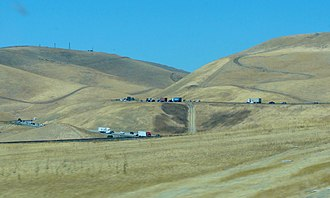 Altamont Pass - View from westbound I-580 of Altamont Pass.