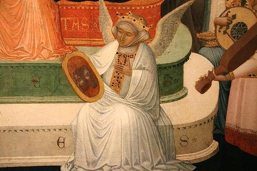 Ambrogio Lorenzetti, Maestà di Massa Marittima (particolare della fede), 1335 ca., Museo di Arte Sacra, Massa Marittima