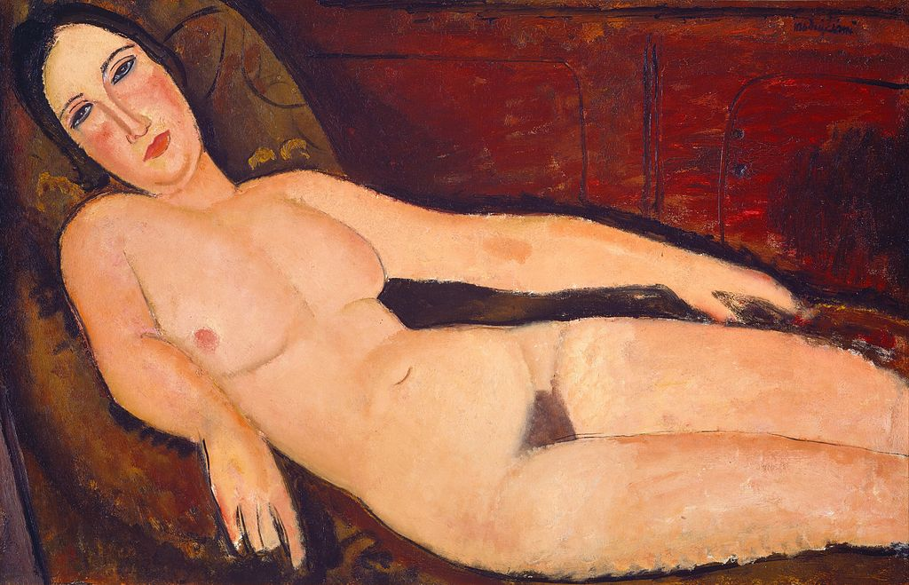 """Nude on a Divan"" by Amedeo Modigliani"