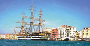 Training ship - The Amerigo Vespucci at Venice, 2006