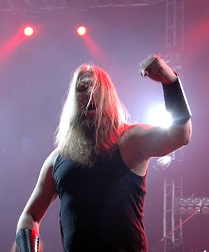 Johan Hegg from Amon Amarth at Metalmania Fest...