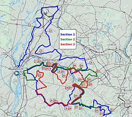 Routekaart Amstel Gold Race 2012