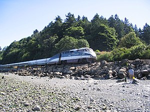 Amtrak Cascades - The Cascades at Seattle's Carkeek Park in 2006
