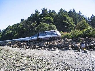 Amtrak Cascades - The Cascades at Seattle's Carkeek Park in 2006
