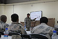 An Afghan Border Police (ABP) instructor teaches a class on high frequency radio procedures Feb 120227-A-EW551-008.jpg