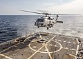 An MH-60R Sea Hawk helicopter lands aboard USS Bulkeley. (22502646603).jpg