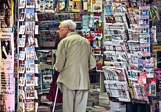 Newsagent's shop - Newsstand in Paris