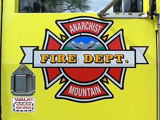 Anarchist Mountain - Anarchist Mountain Fire Department truck