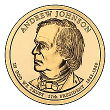 Andew Johnson $1 Presidential Coin obverse.jpg