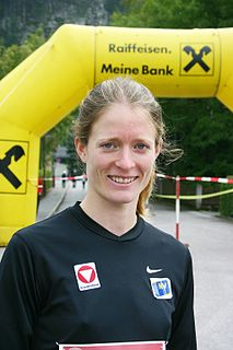 Andrea Mayr Austrian long-distance runner, mountain runner and cyclist