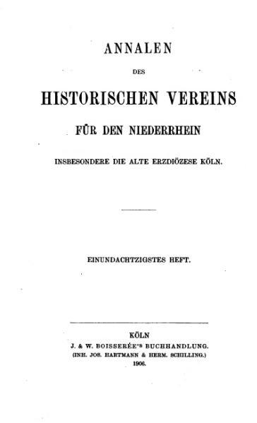 File:Annalen des Historischen Vereins für den Niederrhein 81 (1906).djvu