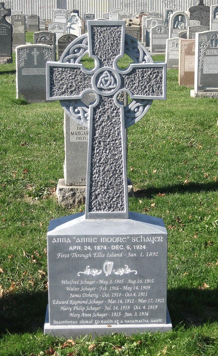 Annie Moore's Gravestone