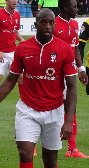 Anthony Straker - Straker playing for York City in 2014