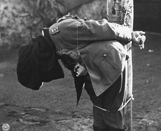 Anton Dostler - Dostler's body immediately after.