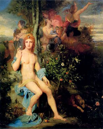 Parnasso in festa - Apollo and The Nine Muses by Gustave Moreau