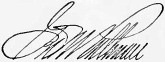 George Pullman - Image: Appletons' Pullman George Mortimer signature