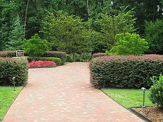 Billy Graham Library - Appreciation Walkway at the Billy Graham Library leads to the grave of Ruth Bell Graham