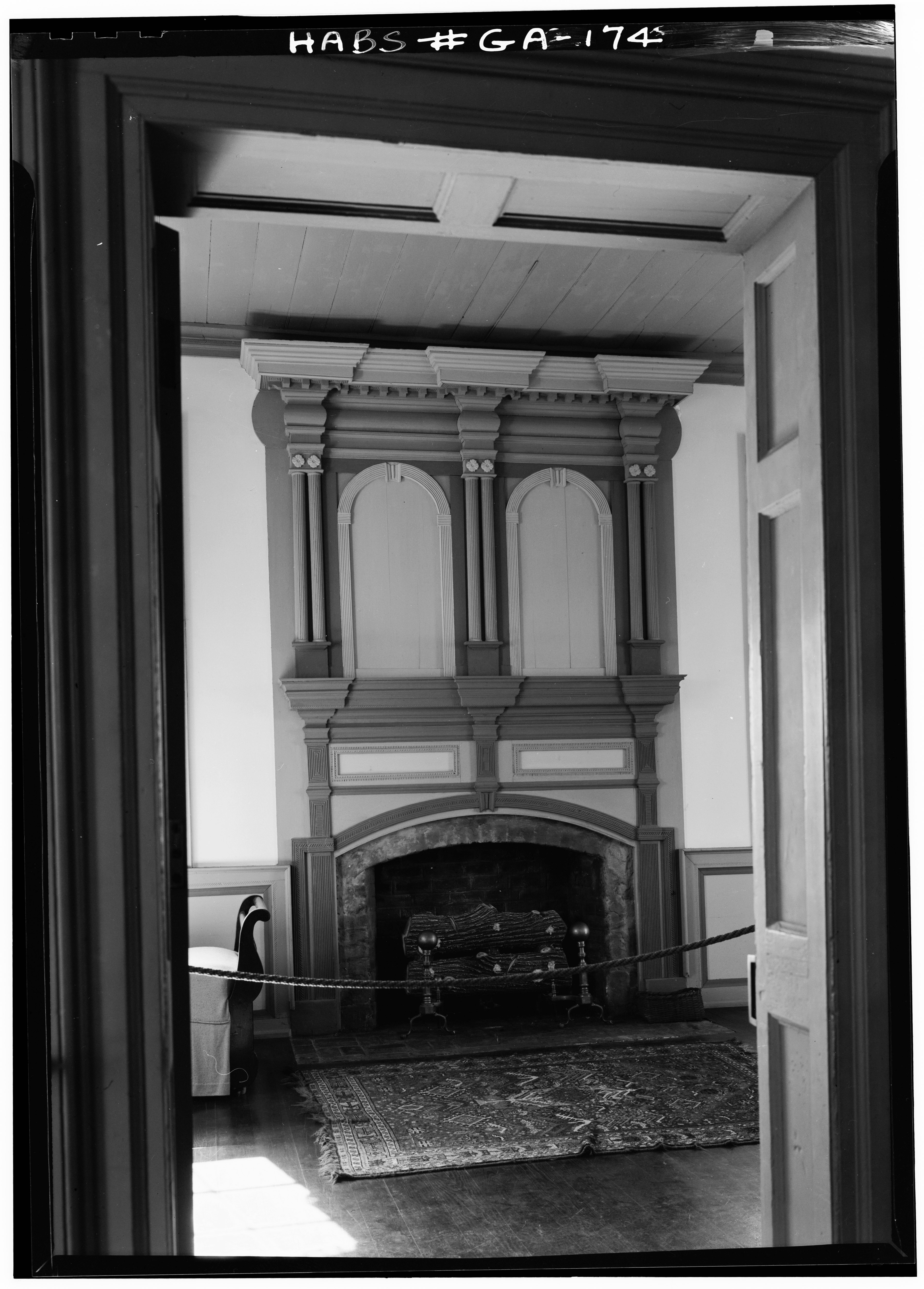 File April 1962 Ornate Fireplace And Mantel First Floor