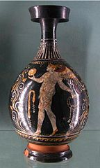 Butelka (Lekyt) w stylu gnathia - Eros