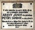 Arany & Petőfi plaque (Debrecen Batthyány u 11c).jpg