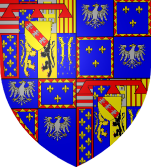 Charles, Duke of Mayenne - Lorraine (cadet branch), quartered with Este quartered with France
