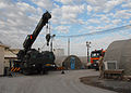 Armored crane and shipping containers outside the ROLE 3 Hospital on Kandahar Airport -a.jpg