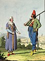 Arnaut of the Albanian battalion with his wife.jpg