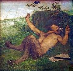 Arnold Böcklin Faun e Amsel zupfeifend (1)
