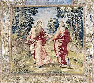 Arras - Arras: tapestry representing God's conversation with Noah
