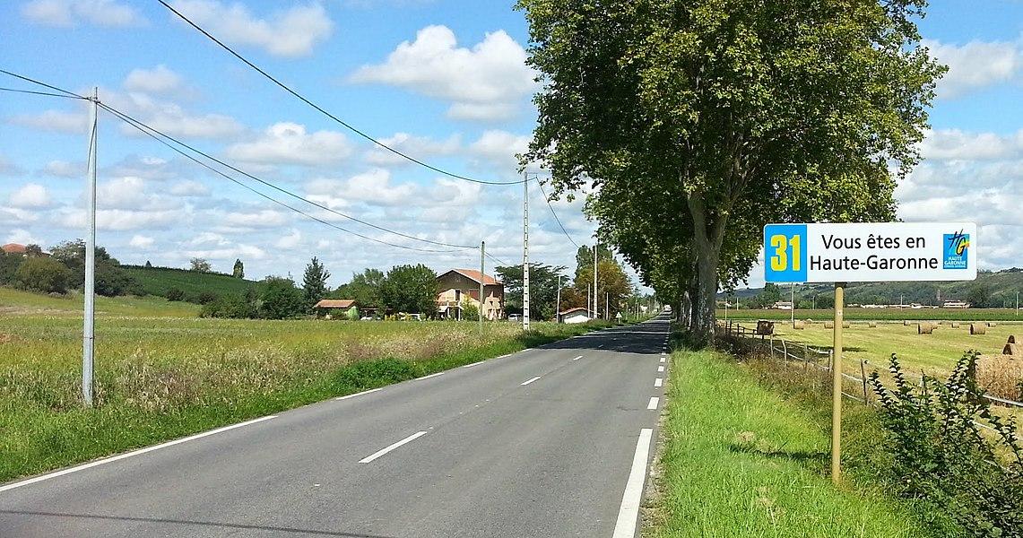 Arrivée en Haute-garonne, vers Montesquieu-Volvestre