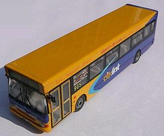 Glasgow Flyer bus company in Glasgow City, Scotland, UK