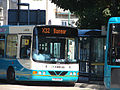 Arriva bus 2508 VDL SB200 Wrightbus Commander CX54 EPO Traws Cambria Route X32 to Bangor, in Aberystwyth, Ceredigion 9 August 2007.jpg