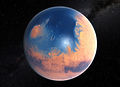 Artist's impression of Mars four billion years ago.jpg