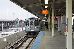 Ashland station (CTA Orange Line) - Image: Ashland Orange Line station
