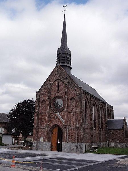 Assevent (Nord, Fr) église St. Joseph, façade