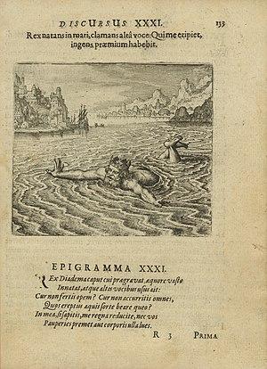 Michael Maier - Discursus XXXI, Epigramma XXXI, from Atalanta fugiens, 1617