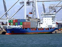 Atlantic Comet IMO 9113733 loading and unloading in the Amazone harbour Port of Rotterdam 14-Jul-2007.jpg
