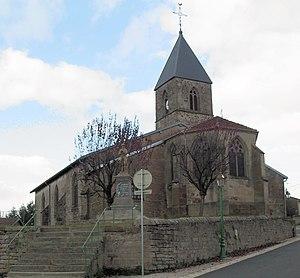 Attigny, Vosges - Image: Attigny, Eglise de la Nativité