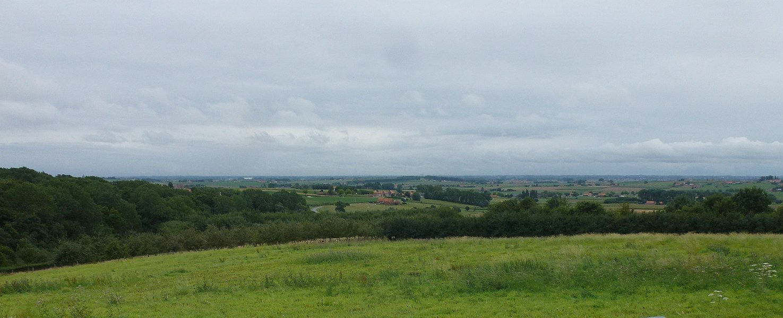 Panorama du au sommet du Mont Kemmel Heuvelland Province de Flandre-Occidentale.- Belgique
