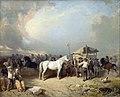Auguste-Alexis Dumoulin D'Arcy 1851 Un champ de foire en Bretagne.jpg